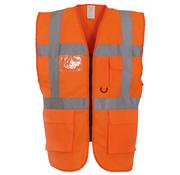 ARBOwinkel.nl Veiligheidshesje met rits oranje