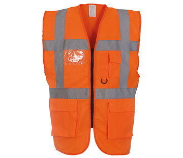 ARBO centrum Veiligheidshesje met rits oranje