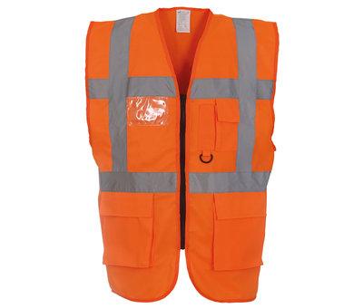 Veiligheidshesje met rits oranje