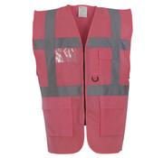 Veiligheidshesje met rits roze