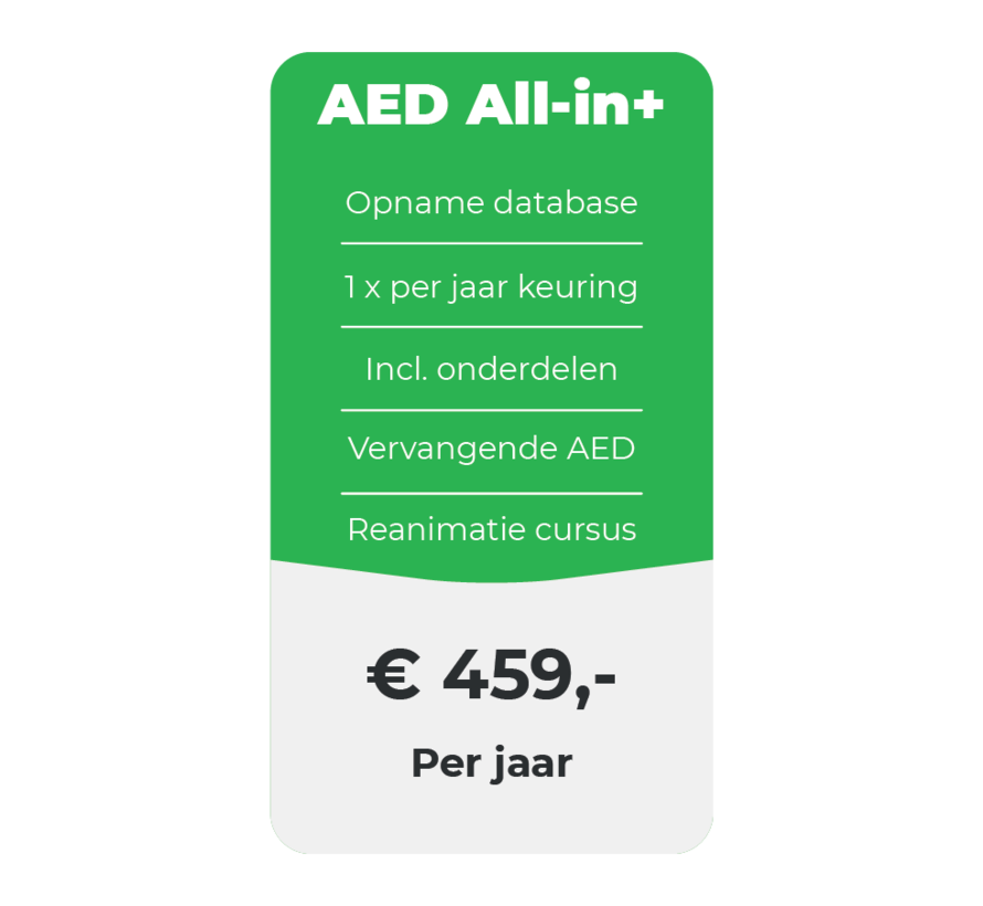 AED All-in+ onderhoud