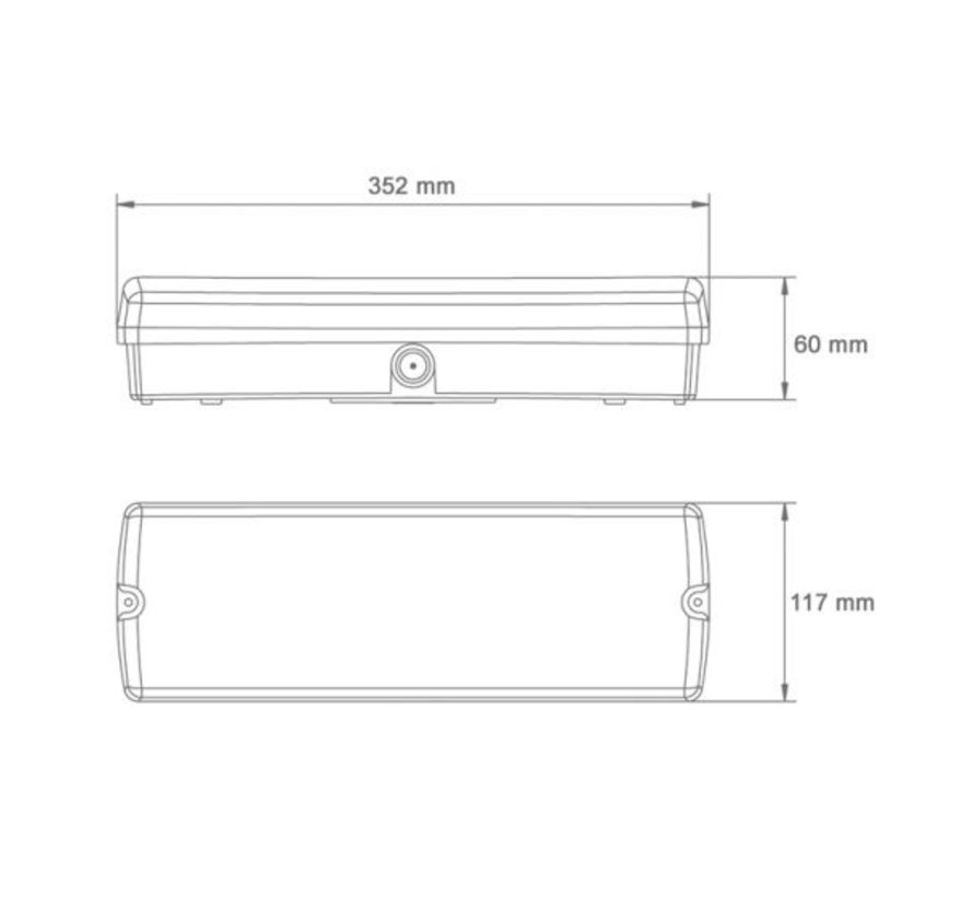 Nooduitgang LED bord verlichting