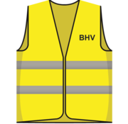 MAISKA Hesje geel BHV opdruk voor/achter