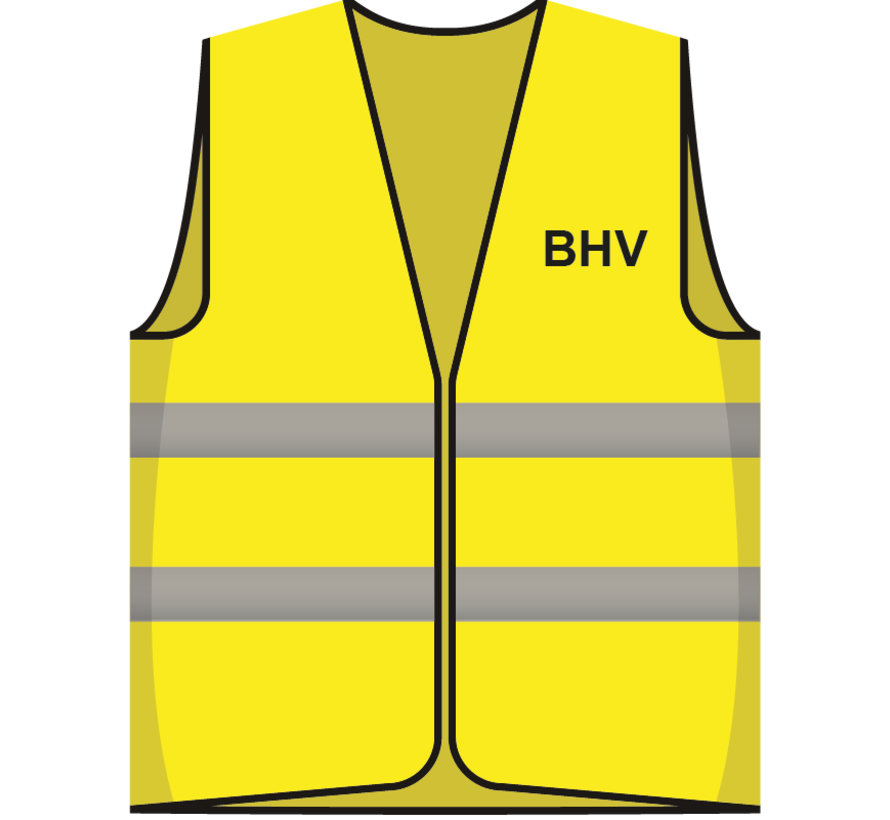 Hesje geel BHV opdruk voor/achter