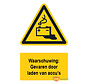 Waarschuwingsbord / sticker gevaar door laden van accu's met tekst