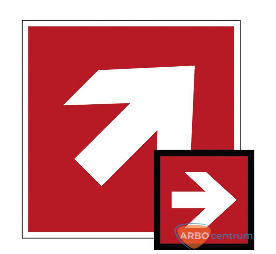 Richtingaanwijzing 45°-90° (rechts) pictogram