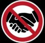 Verboden handen te schudden