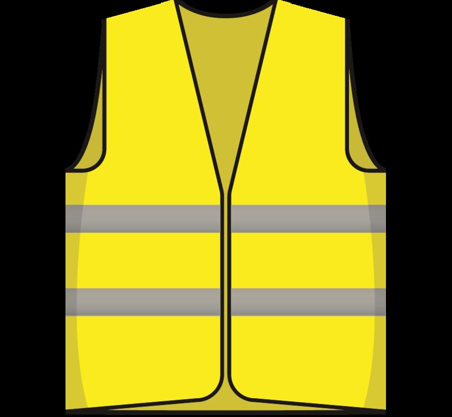 Houd voldoende afstand hesje geel
