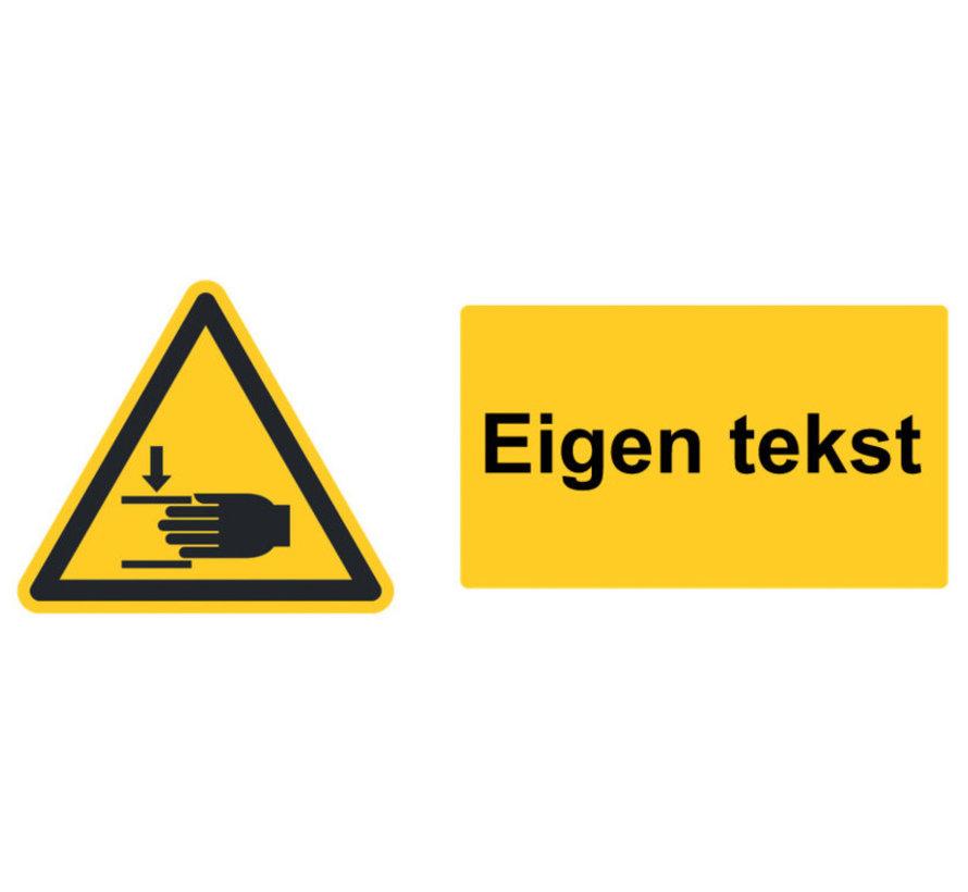 Waarschuwingsbord of sticker naar wens