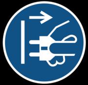 Voor het openen stekker uit stopcontact trekken