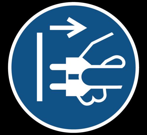 ARBO centrum Voor het openen stekker uit stopcontact trekken gebodspictogram