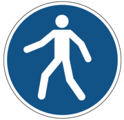 ARBO centrum Verplicht doorgang voetgangers