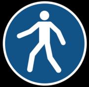 Verplicht doorgang voetgangers