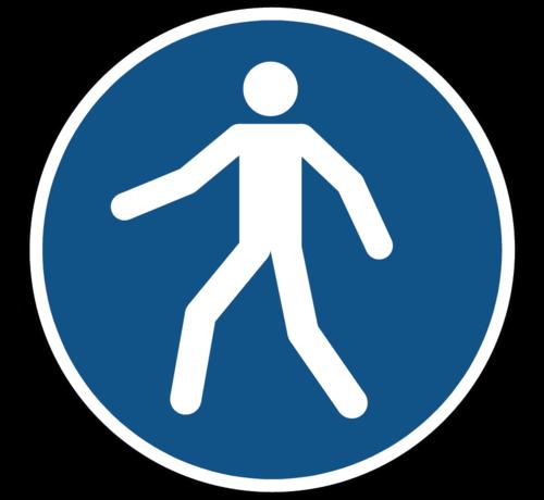 ARBO centrum Verplicht doorgang voetgangers gebodspictogram