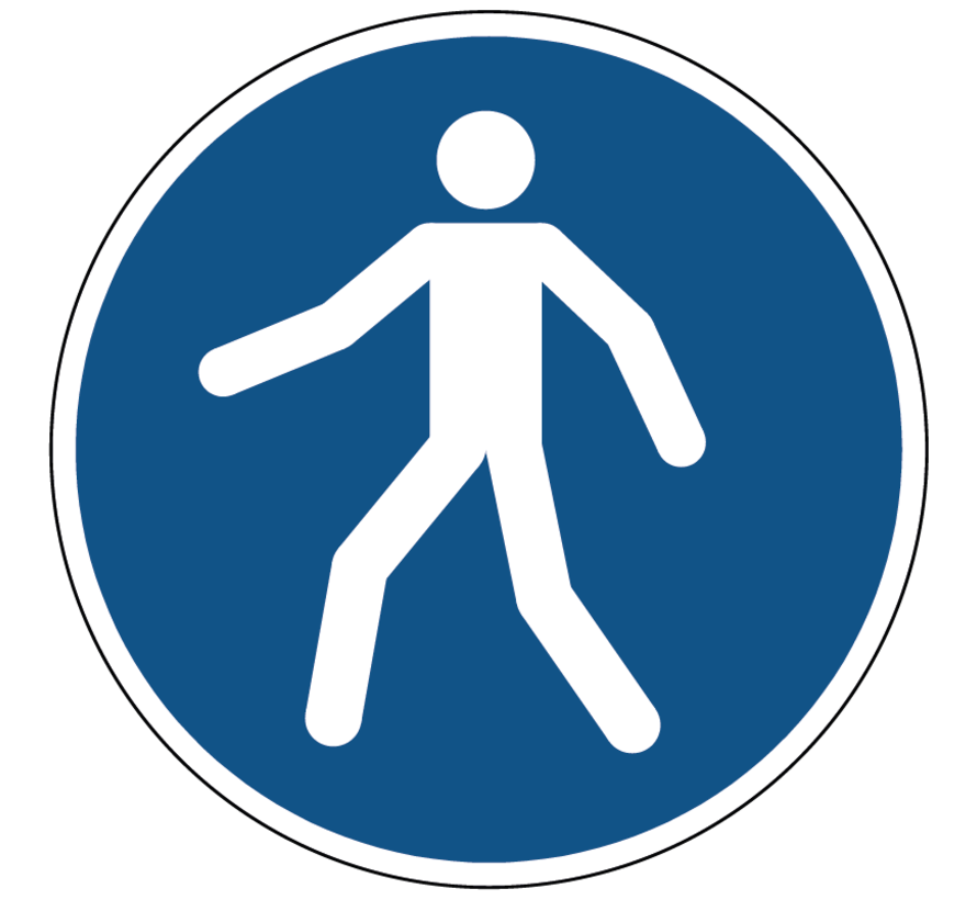 Verplicht doorgang voetgangers gebodspictogram