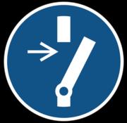 Vrijschakelen voor onderhoud of herstelling