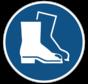 Veiligheidsschoenen verplicht gebodspictogram