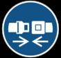 Gordel dragen verplicht gebodspictogram