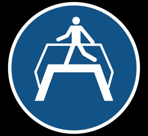 ARBO centrum Oversteekplaats gebruiken gebodspictogram