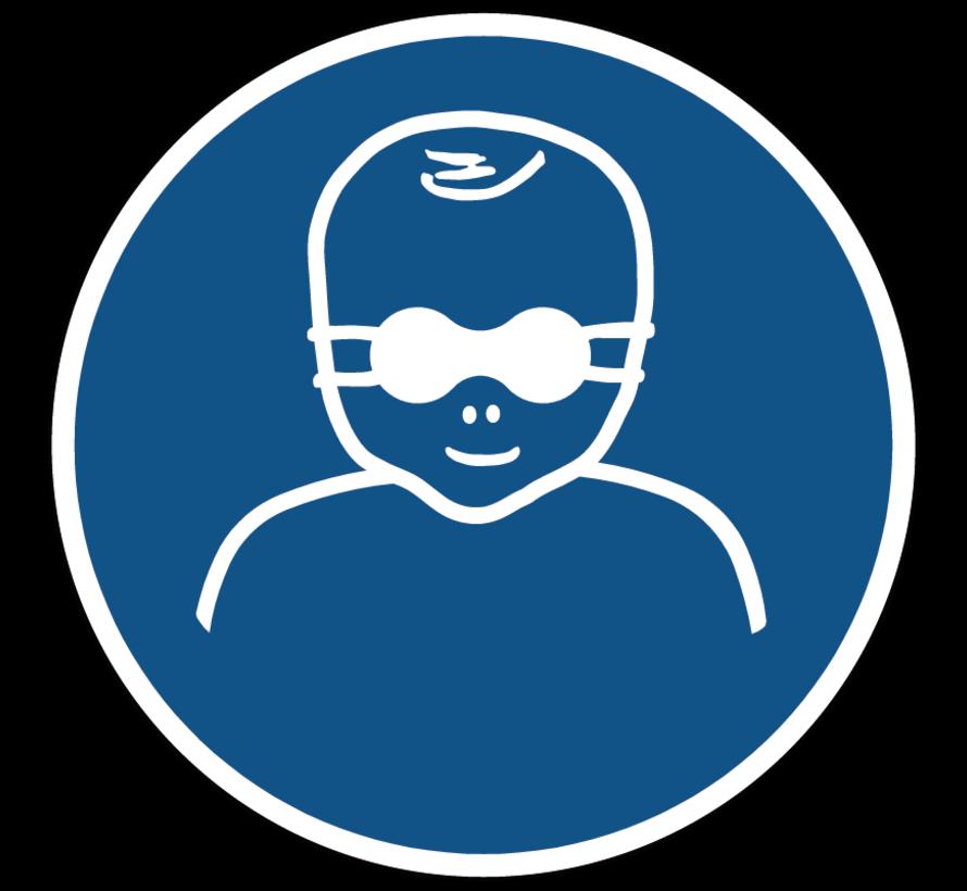 Oogbescherming voor kinderen verplicht gebodspictogram