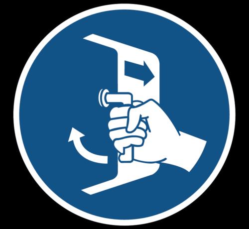 ARBO centrum Luiken sluiten en beveiligen gebodspictogram