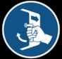 Luiken sluiten en beveiligen gebodspictogram