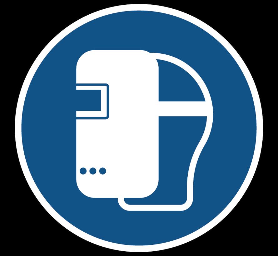 Lasmasker verplicht verplicht gebodspictogram