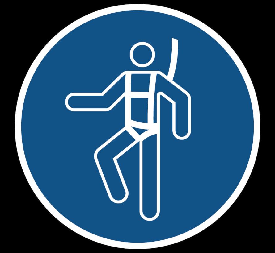 Individueel veiligheidsharnas verplicht gebodspictogram