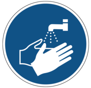 ARBO centrum Handen wassen verplicht