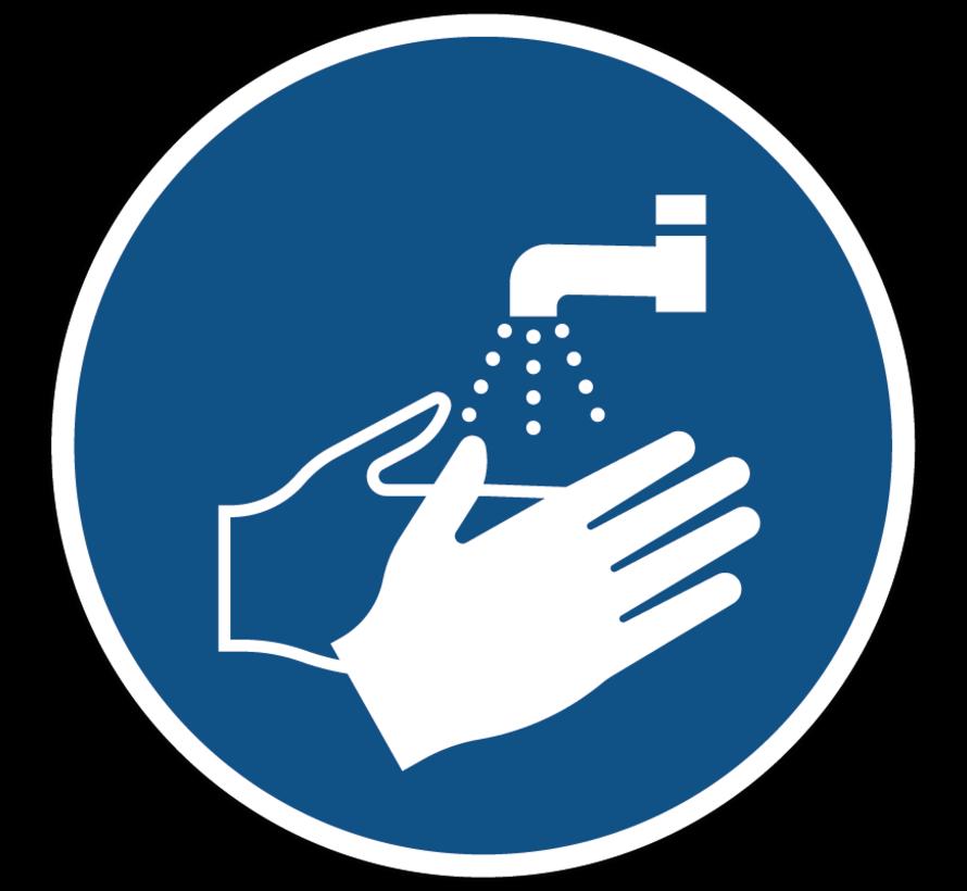 Handen wassen verplicht gebodspictogram