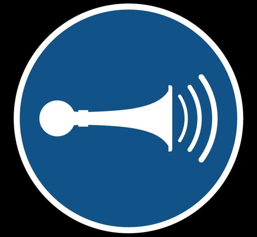 Geluidssignaal geven gebodspictogram