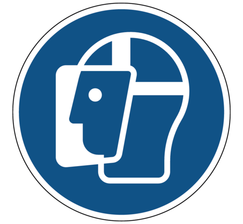 ARBO centrum Gelaatsbescherming verplicht gebodspictogram