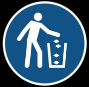 Gebruik de vuilnisbak