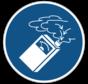 Gebruik de gasdetector gebodspictogram