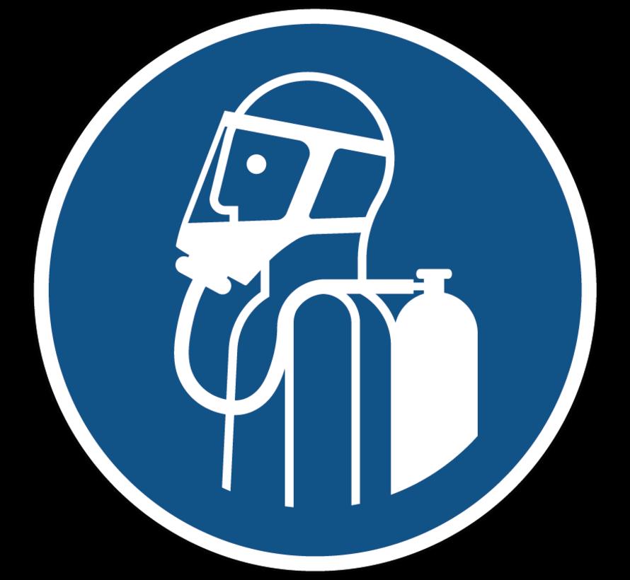 Gebruik autonoom ademhalingstoestel gebodspictogram