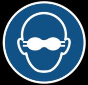 Dragen van opaak bril verplicht