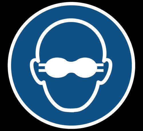 ARBO centrum Dragen van opaak bril verplicht gebodspictogram
