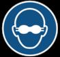 Dragen van opaak bril verplicht gebodspictogram