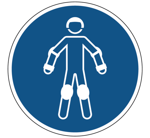 ARBO centrum Draag beschermende rollersportuitrusting gebodspictogram