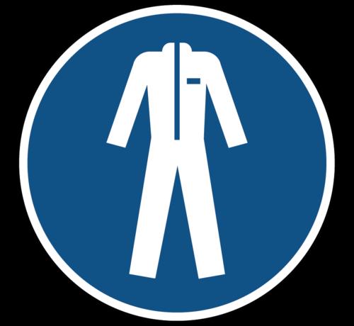 ARBO centrum Beschermende kleding verplicht gebodspictogram