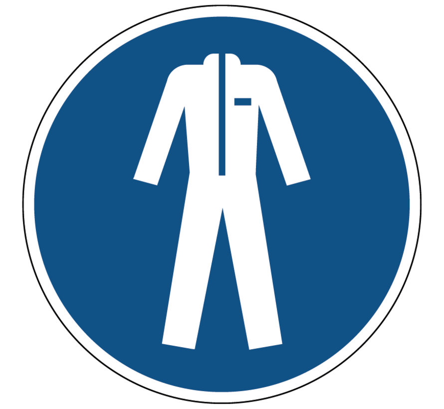 Beschermende kleding verplicht gebodspictogram