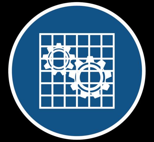 ARBO centrum Bescherming controleren gebodspictogram