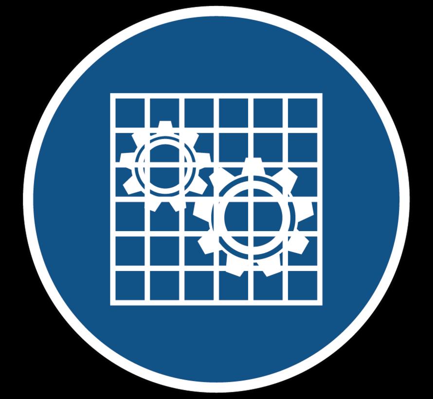 Bescherming controleren gebodspictogram
