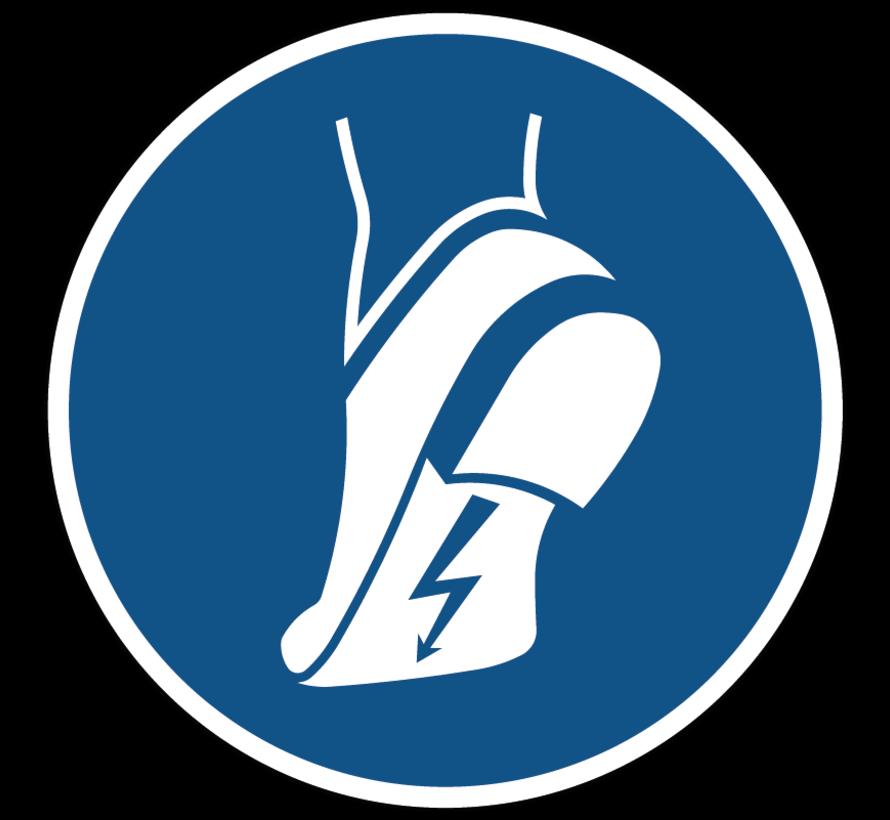 Antistatische schoenen verplicht gebodspictogram