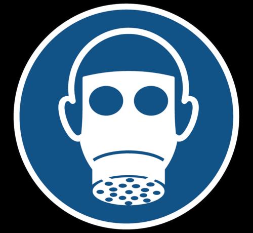 ARBO centrum Ademhalingsbescherming verplicht gebodspictogram