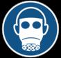 Ademhalingsbescherming verplicht gebodspictogram