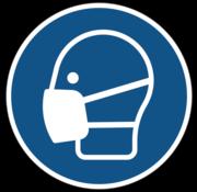 ARBO centrum Mondkapje verplicht gebodspictogram