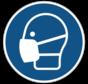 Mondkapje verplicht gebodspictogram