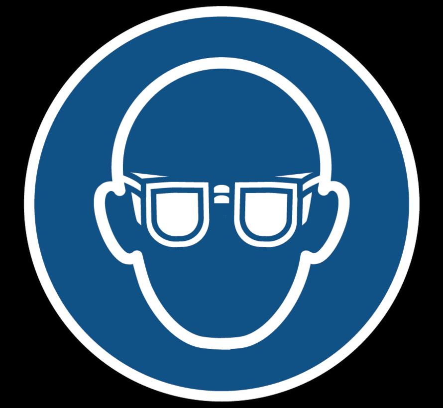 Oogbescherming verplicht gebodspictogram