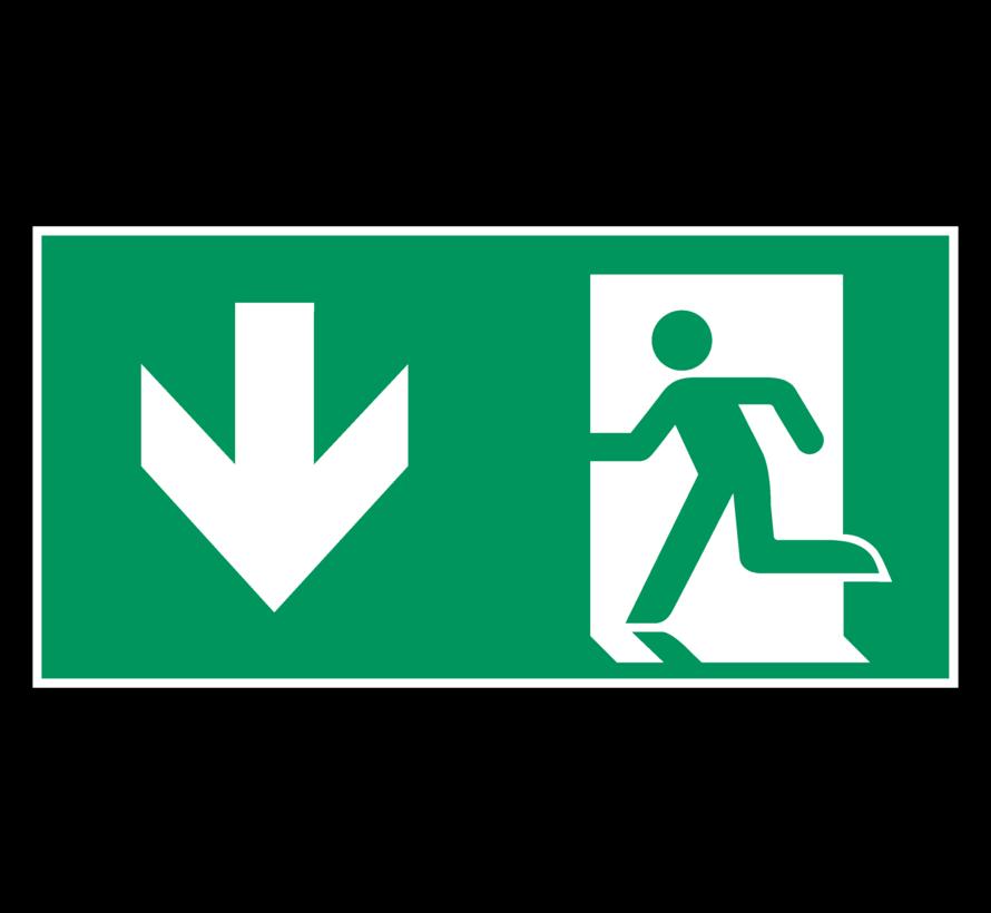 Nooduitgang naar beneden pictogram